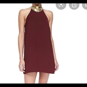 Keepsake Modern Myth Mini Dress Wine XS